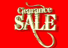 3D Clearance Sale. 3D of clearance sale text on red background royalty free illustration