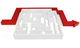 3d clever solved maze puzzle Royalty Free Stock Photo