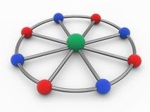 3d client server network. 3d render of client server networking concept Stock Photos