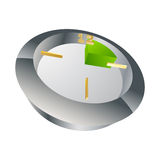 3d clock(15 min). 3d vector clock measuring 15 minutes Vector Illustration
