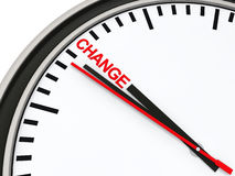 3d clock time change. Countdown deadline red Stock Photography