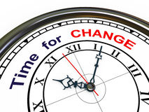 3d clock - time for change Stock Image