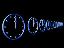 3D clocks Royalty Free Stock Images