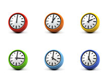 3d clocks. Stock Photos