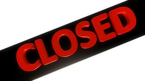 3d Closed Sign Royalty Free Stock Photography