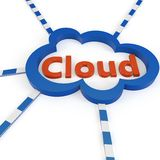 3d Cloud computing concept Royalty Free Stock Photos