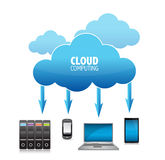 3D Cloud Computing Concept Royalty Free Stock Image