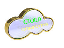 3D Cloud computing concept. 3D Cloud computing icon, cloud network concept Royalty Free Stock Photography