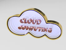 3D Cloud computing concept. For icon Royalty Free Stock Images