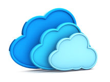 3d cloud computing icon. On a white background Royalty Free Stock Images