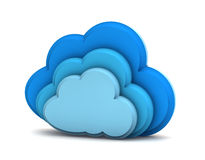 3d cloud computing icon. On a white background Stock Image