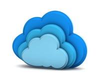 3d cloud computing icon Stock Image