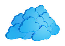 3d cloud computing icon. Isolated on a white background Royalty Free Stock Photo