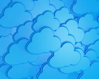 3d cloud computing icon. Background Stock Photography