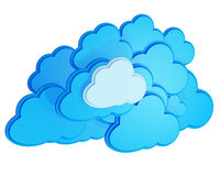 3d cloud computing icon Stock Photography
