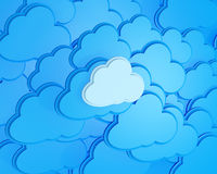 3d cloud computing icon. Background Stock Photos