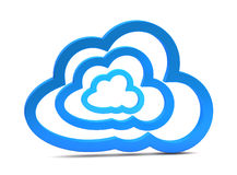 3d cloud computing icon. On a white background Royalty Free Stock Photo