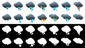 3D cloud icon collection. Stock Photography