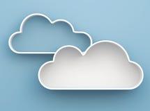 3D Cloud shelves and shelf design. On background stock illustration