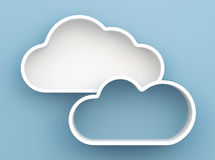 3D Cloud shelves and shelf design. On background Royalty Free Stock Photo