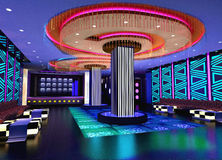 3d club corridor hall Стоковые Фото