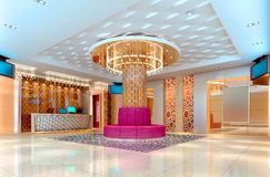 3D club corridor, hall Stock Images