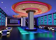 3D club hall, corridor Stock Photos