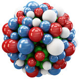 3d cluster of spheres Stock Photography