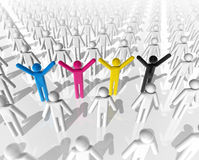 3D cmyk icon people Royalty Free Stock Image