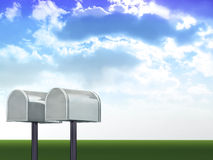 3d cocepts. 3d concept illustrations two mail boxes Stock Image