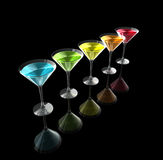 3D cocktail glasses Stock Photo