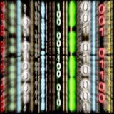 3D code binaire coloré - effet de zoom (fond) Images libres de droits