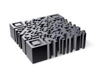 3D Code QR Stock Fotografie