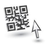 3D Code QR Royalty-vrije Stock Afbeelding