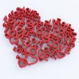 3d coeur-comme la composition. Illustration de Vecteur