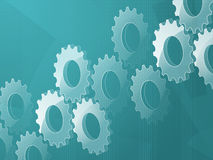 3d cog background Stock Photos