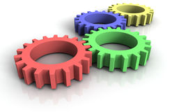 3d cog wheels Stock Photos