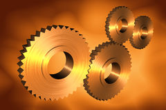 3d cogs. With metallic texture Royalty Free Stock Photography