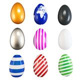 3d collection of easter eggs Royalty Free Stock Photography