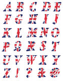 3d collection of UK letters Royalty Free Stock Image