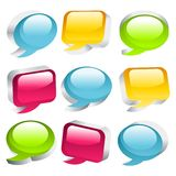 3D Coloful speech bubbles Royalty Free Stock Image