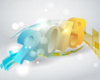 3d color 2013 on stylish bacground Stock Photography