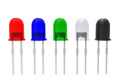 3d color assembly of LEDs Royalty Free Stock Image