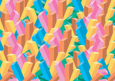 3D Color Blocks. 3D illustrated background for all usage Stock Image