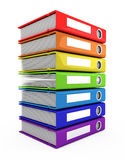 3d color books tower Stock Images