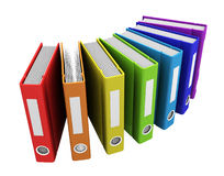 3d color business books. On a white background Royalty Free Stock Image