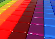 3d color cubes. Abstract background  3d color cubes with graduating colors Stock Photography