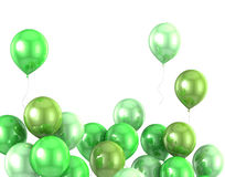 3d color helium balloon Stock Photo