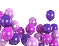 3d color helium balloon. On white backround Stock Photography