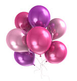 3d color helium balloon. On white backround Royalty Free Stock Photos